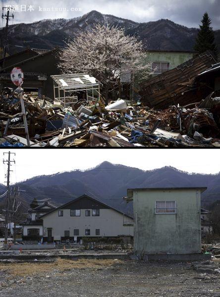 图为岩手县釜石市的恢复场景。
