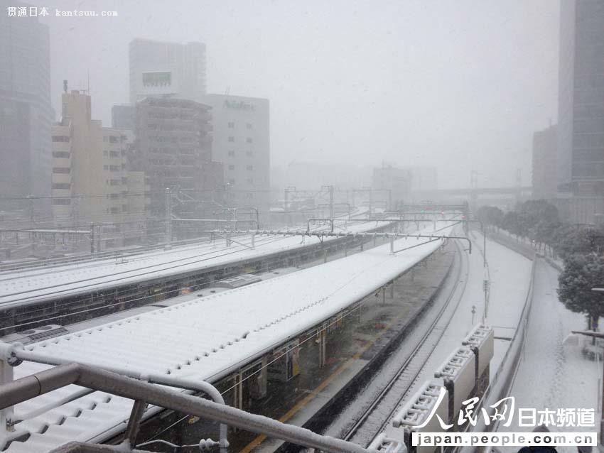 【独家高清】日本普降大雪 东京时隔16年出现10厘米积雪